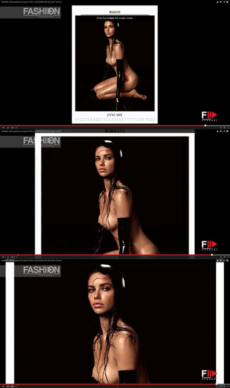Adriana Lima Nude Screen Shots Pirelli 2015 NSFW