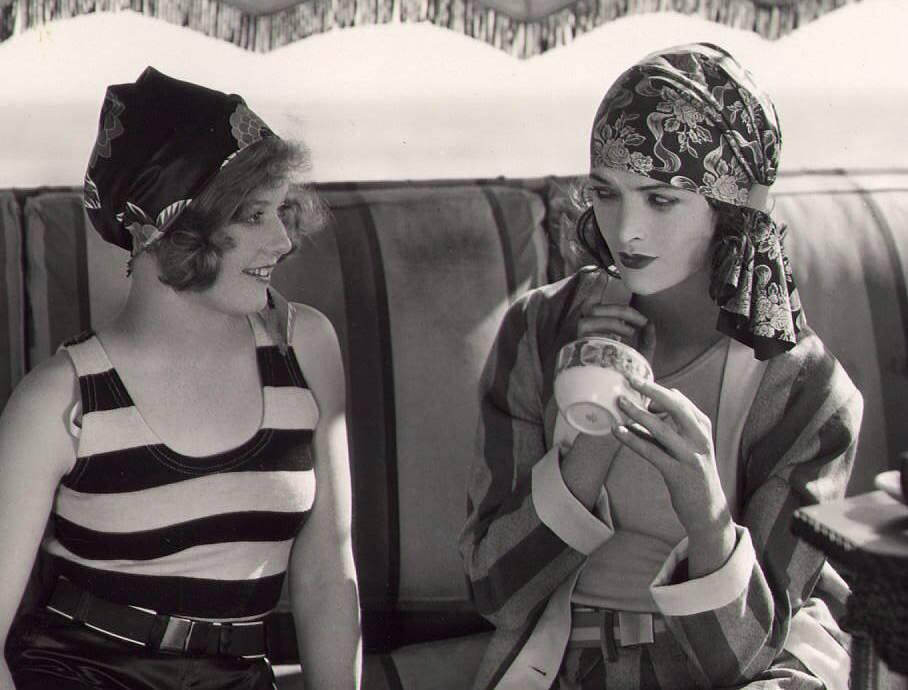 Agnes Franey Andamp Myrna Loy C 1928 NSF