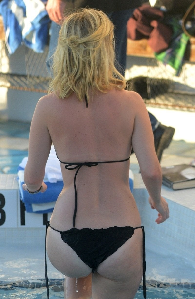 Alice Eve Nice Ass Climbing Out Of Pool NSFW