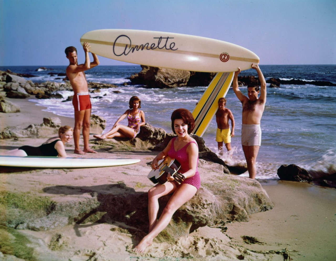 Annette Funicello Playing A Guitar NSF