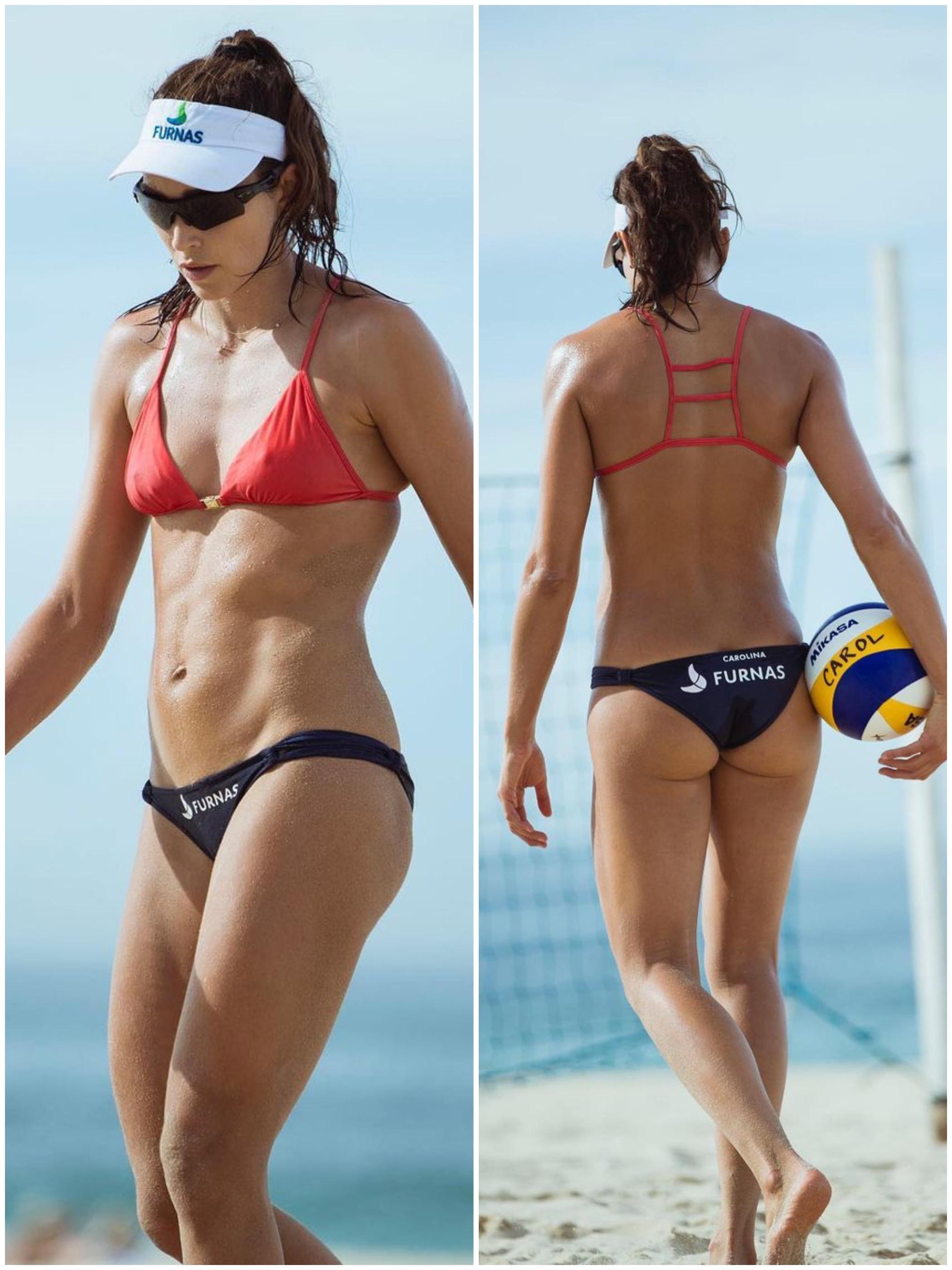Brazilian Beach Volleyball Player Carolina Solberg Salgad