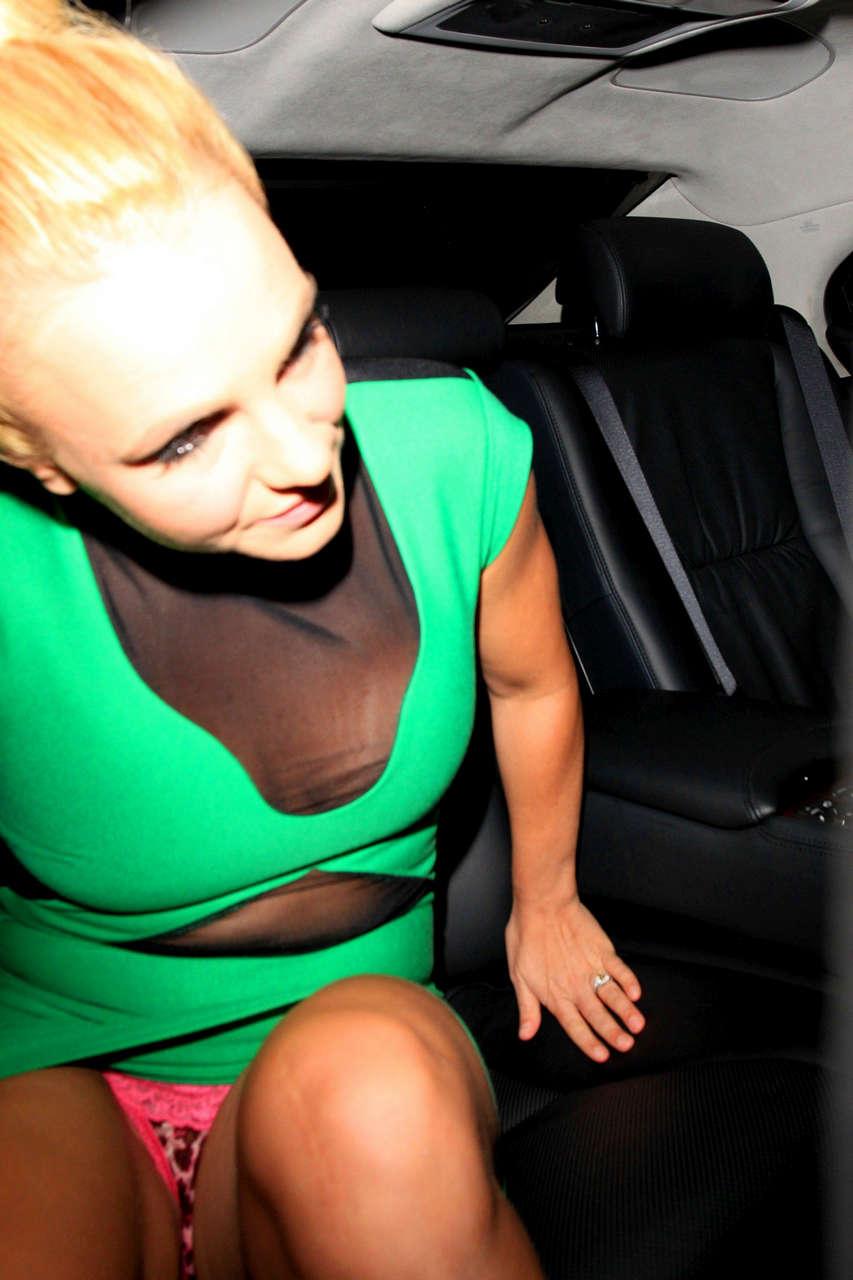 Britney Spears Showing Cute Pink Underwear NSFW