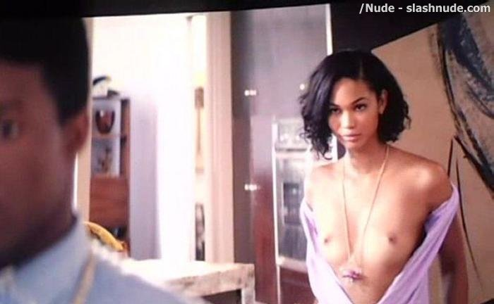Chanel Iman Topless In Dope NSFW