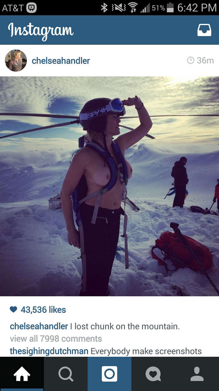 Chelsea Handler Topless On A Mountain NSF