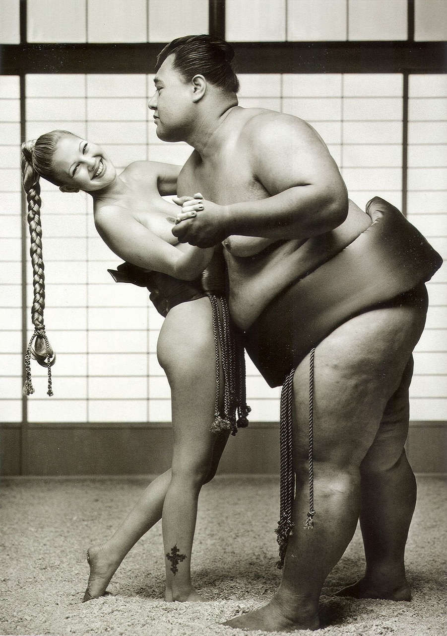Drew Barrymore With A Sumo Wrestler NSFW