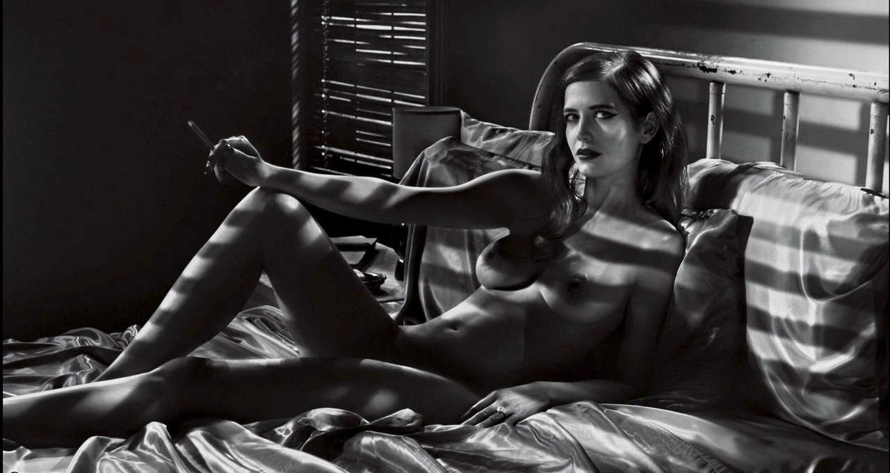 Eva Green Bw Nude Lounging In Bed NSFW