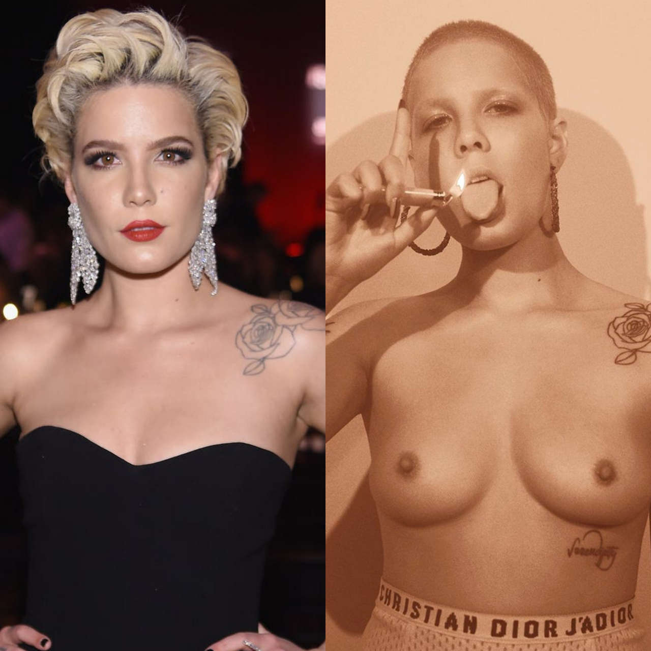 Halsey On Off NSFW