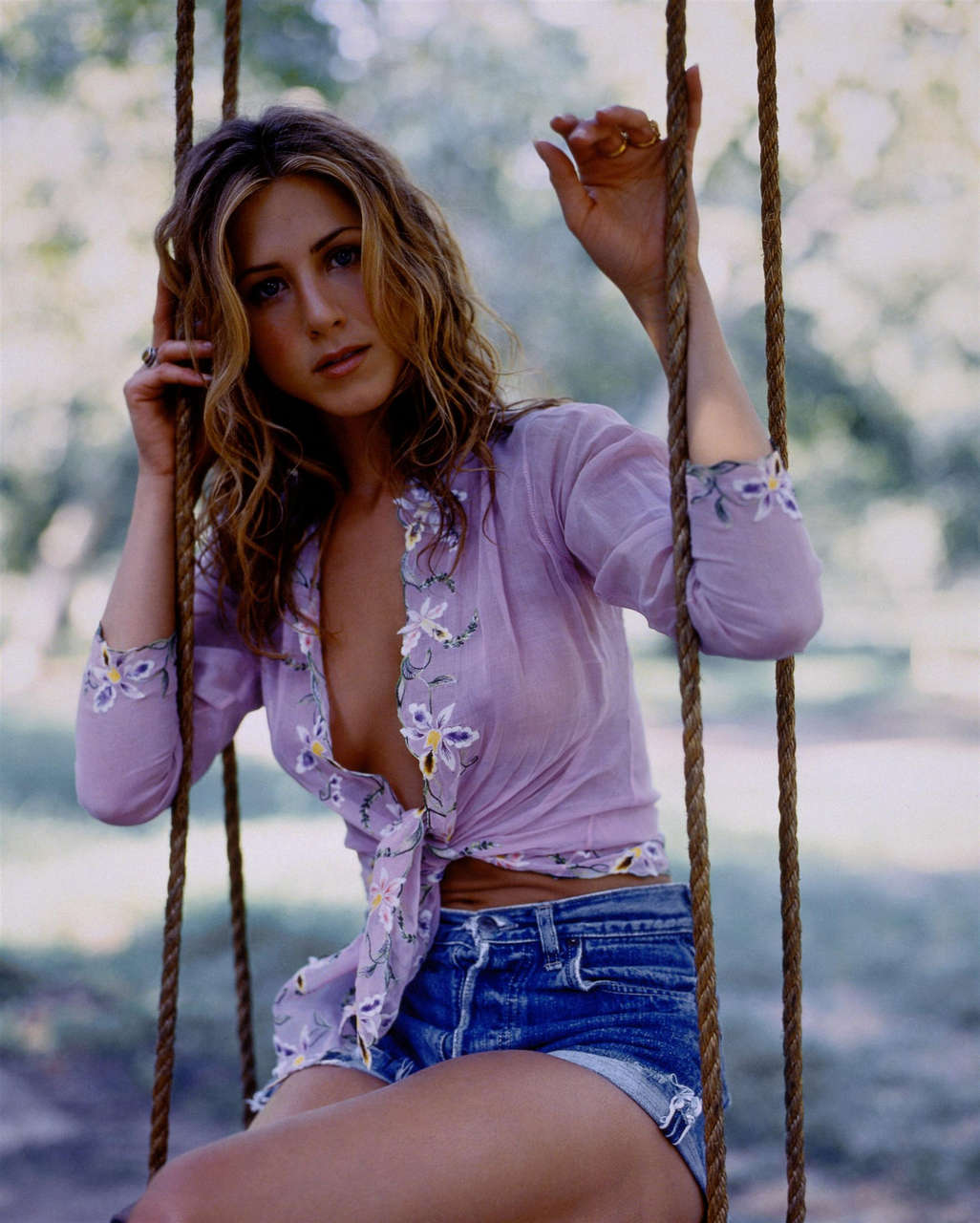 Jennifer Aniston In A See Through Blouse NSFW