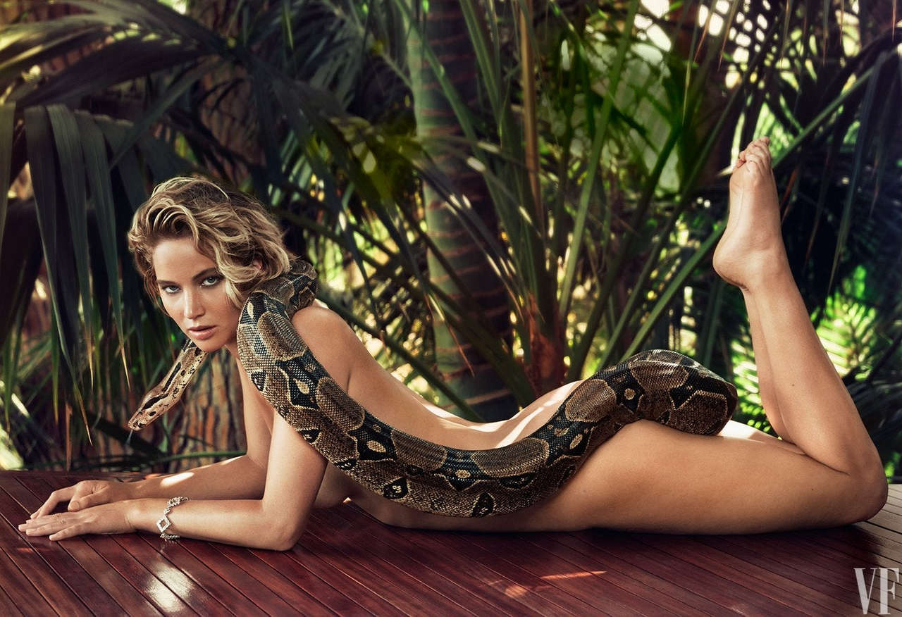 Jennifer Lawrence And A Snake NSFW