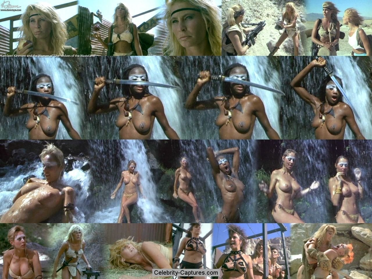Kathleen Kinmont Naked Vidcaps From She Wolves Of The Wasteland NSFW