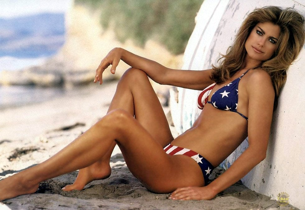 Kathy Ireland Shows The Kind Of Patriotism That Makes You Stand At Attention NSFW