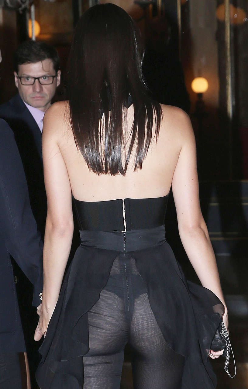 Kendall Jenner Thong In A See Through Dress NSFW