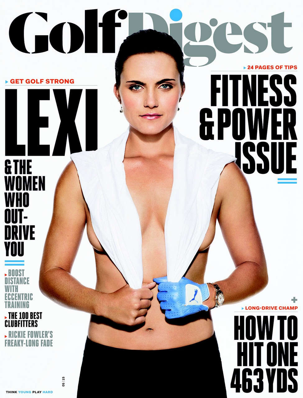 Lexi Thompson Golf Digest Cover 5 2015 NSFW