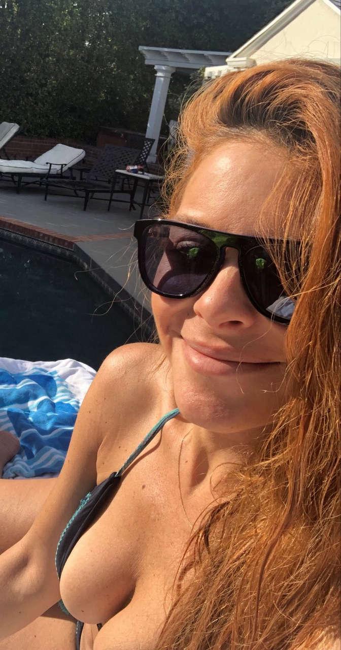 Maria Menounos Deep Bikini Cleavage NSFW
