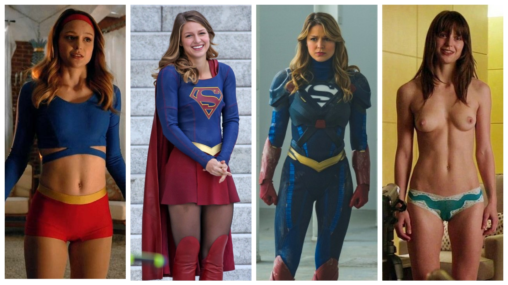 Melissa Benoist I Can Decide Which Supergirl Outfit I Like The Best NSF