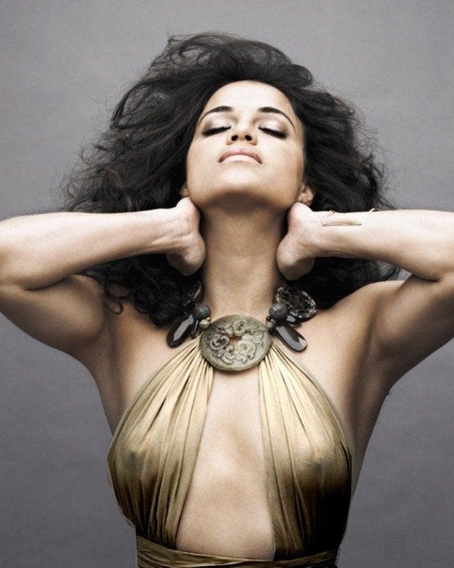 Michelle Rodriguez See Through Nips NSF