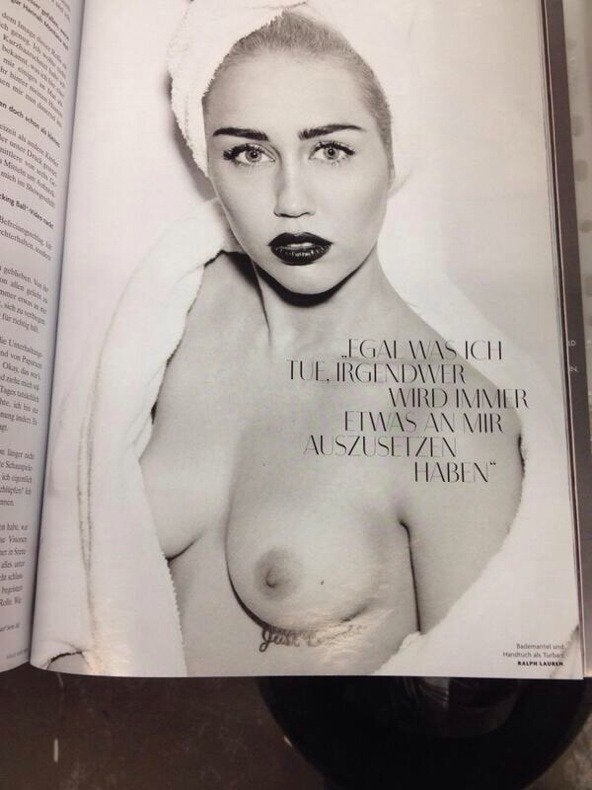 Miley Cyrus In Vogue Germany March 2014 Issue NSFW
