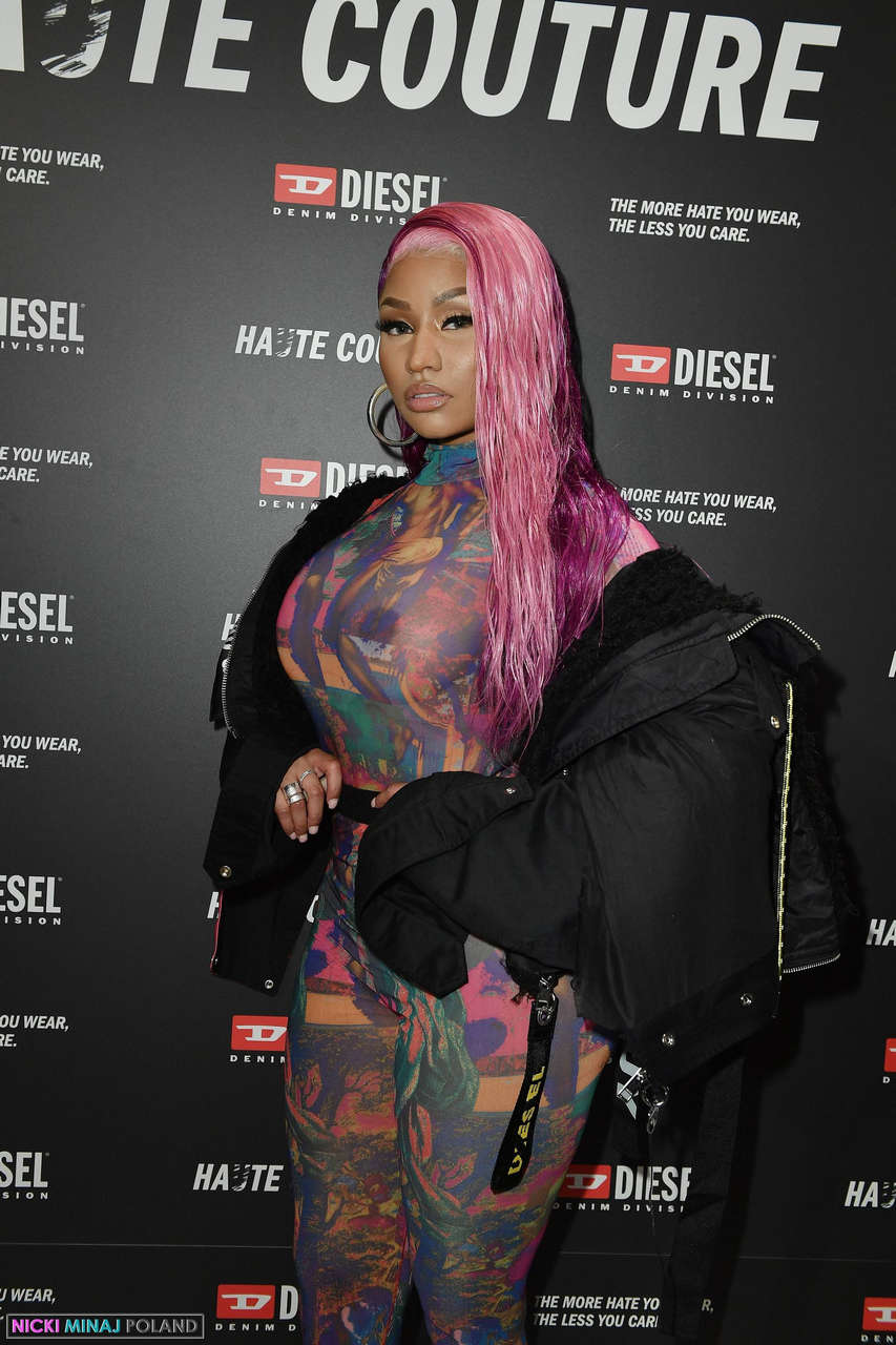 Nicki Minaj Nips In See Thru Bodysuit NSFW