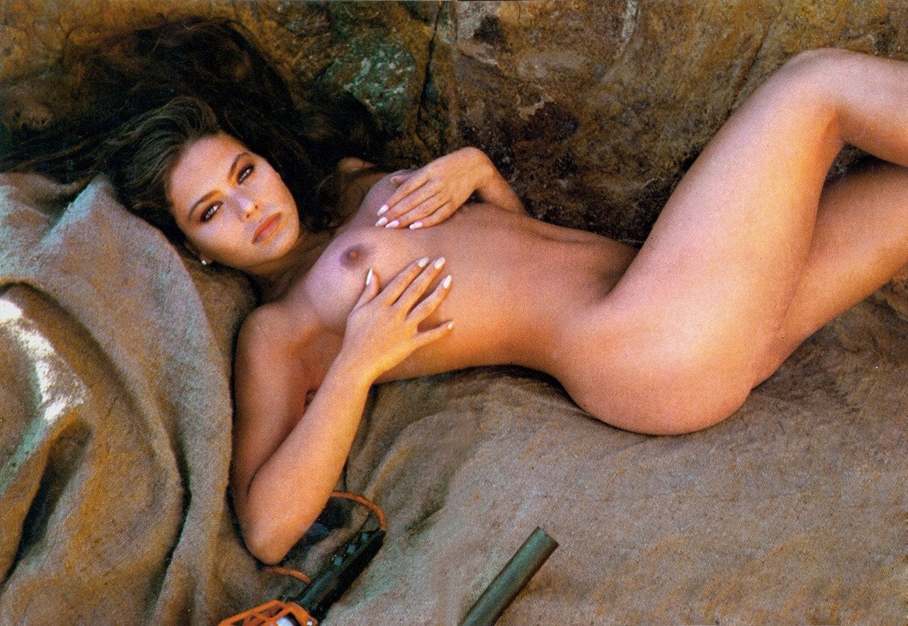 Ornella Muti Glamour Shot Against Rocks NSFW