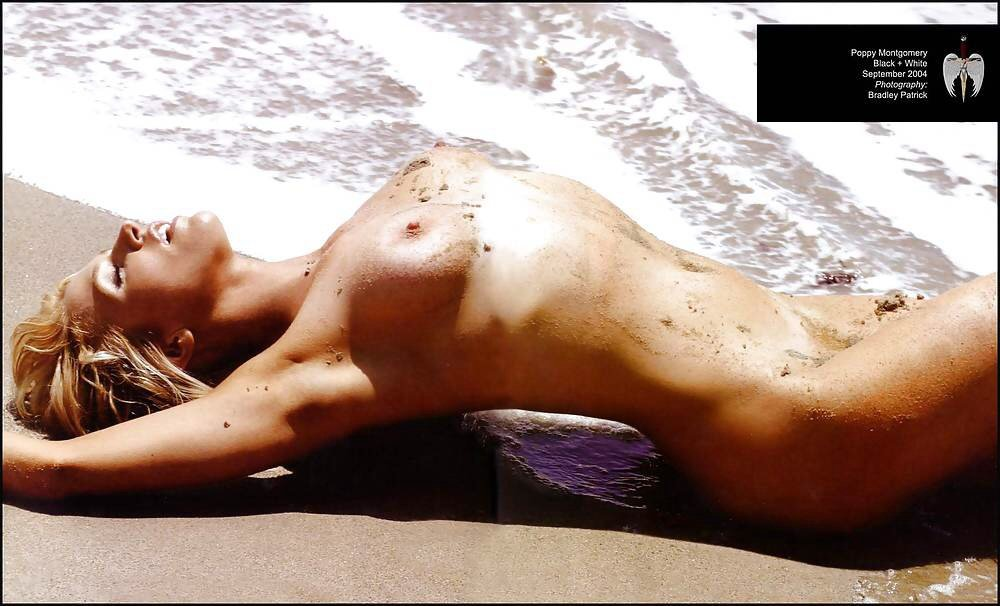 Poppy Montgomery Nude On A Beach NSFW