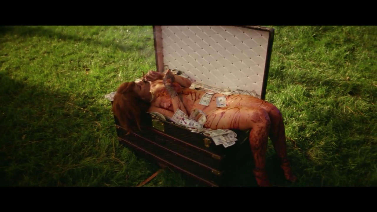 Rihanna At The End Of Her Music Video For Bitch Better Have My Money NSFW